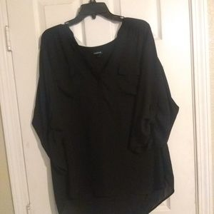 Black Georgette pull over top